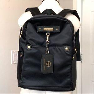 New Adrienne Vittadini Black Nylon Backpack